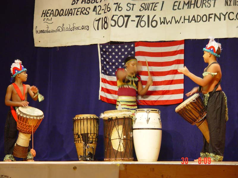 African youth Drummers Performing at Gala 2001