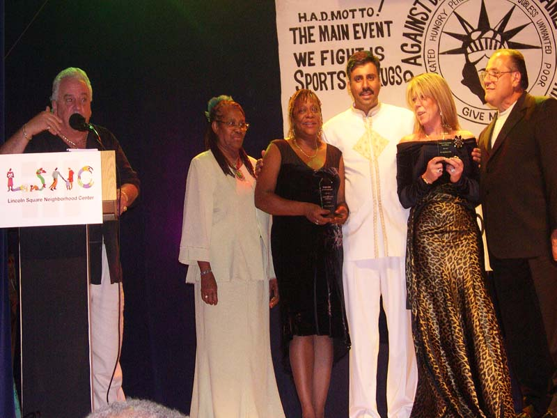 Dr.Abbey Honoring guests at annual gala 2004