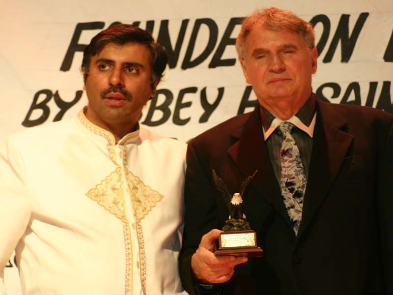 Dr.Abbey honoring Alfred DeMaria Esq at Gala 2008