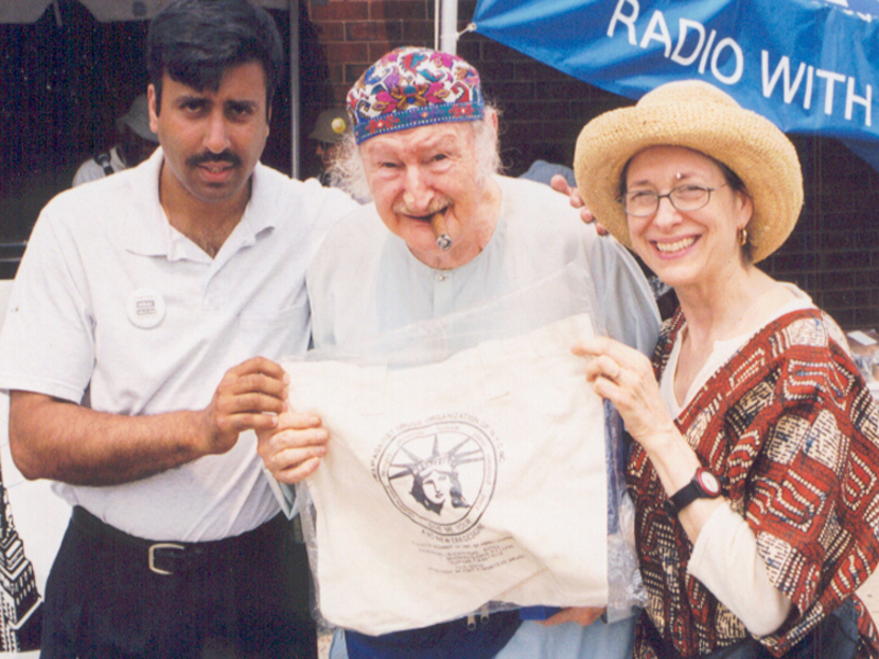 Dr.Abbey with Granpa Al Lewis & Wife 2000