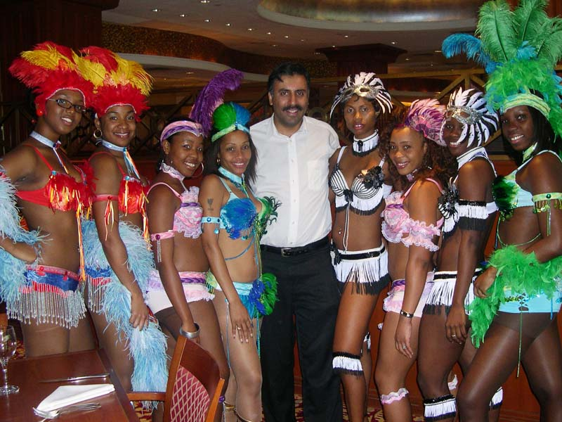 Dr.Abbey with St Lucian Carnival Girls 2006