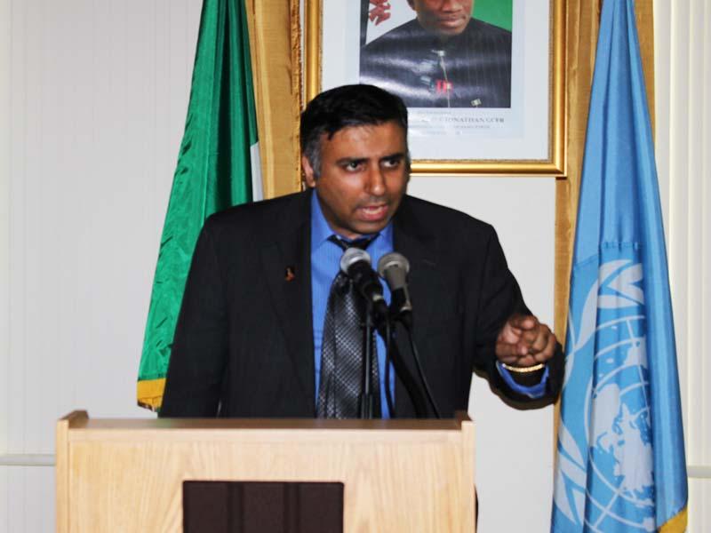 Dr.Adal Speaking at UN 1999