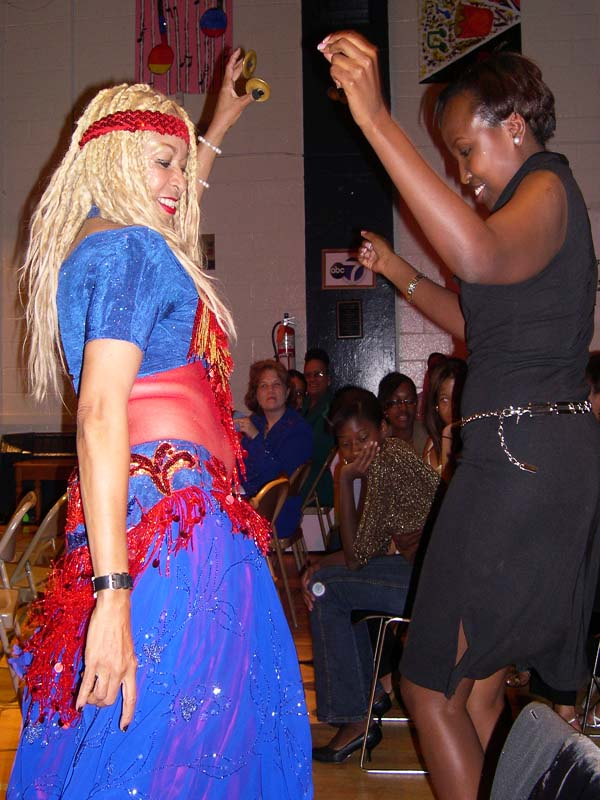 Salome & guest dancing at annual Gala 2003