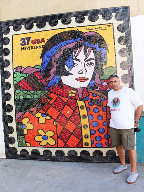 Dr.Abbey with a Murial of Michael Jackson @ Santa Marta Favela