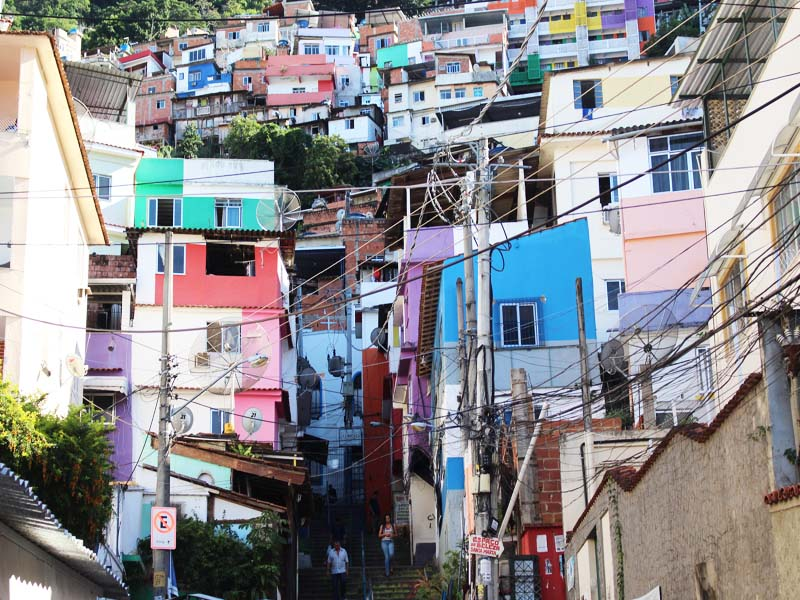 Santa Marta Favela in Rio Brazil