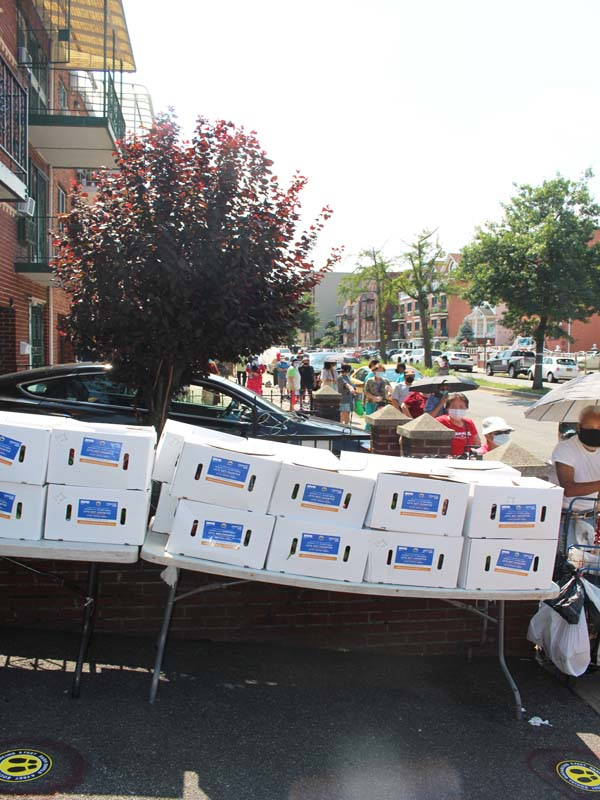 Close to 300 food boxes given out