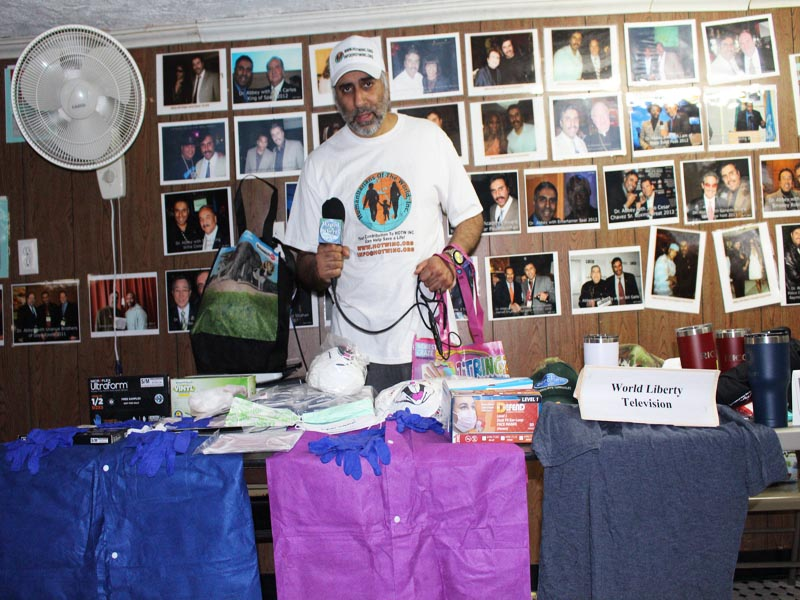 Donations from all over USA of Masks Gloves and Medical Gowns To our Humanitarians of the World Inc