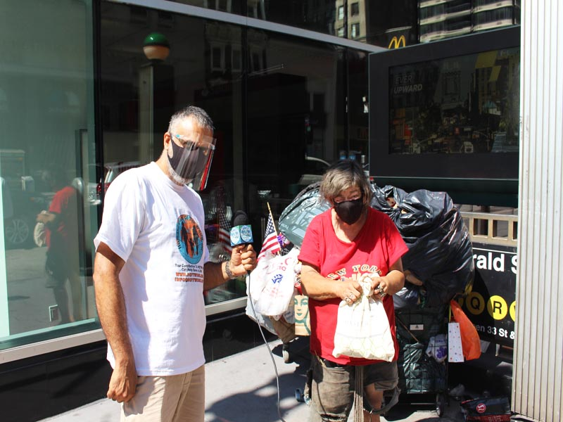 Dr Abbey with Chris Homeless on the Streets of NYC since 1970