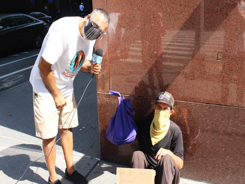 Dr Abbey with Chrizzy Veteran Homeless in NYC