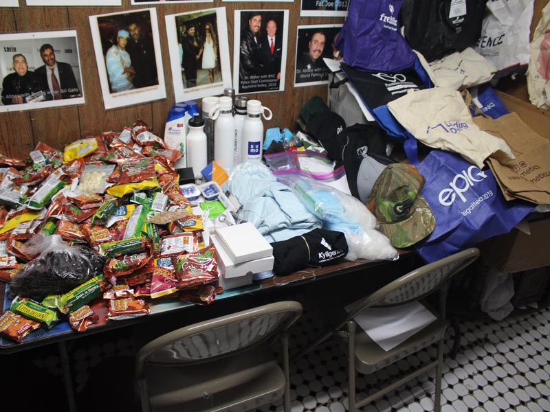 Electronic items given to HOTWINC Homeless Presentation