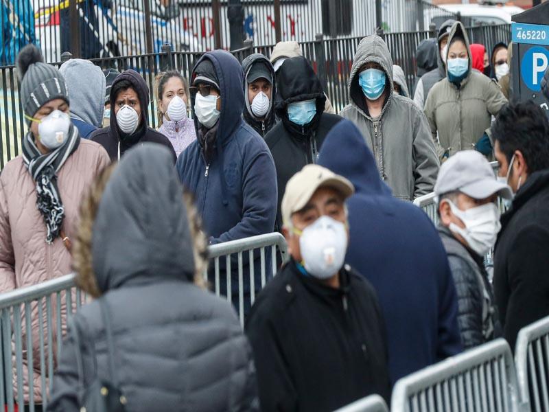 Hundreds line up at Elmhurst Hospital for COVID-19 Testing