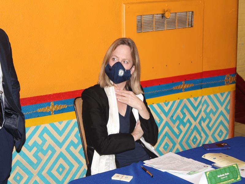 Melinda Katz Queens DA Getting ready for Keynote Address