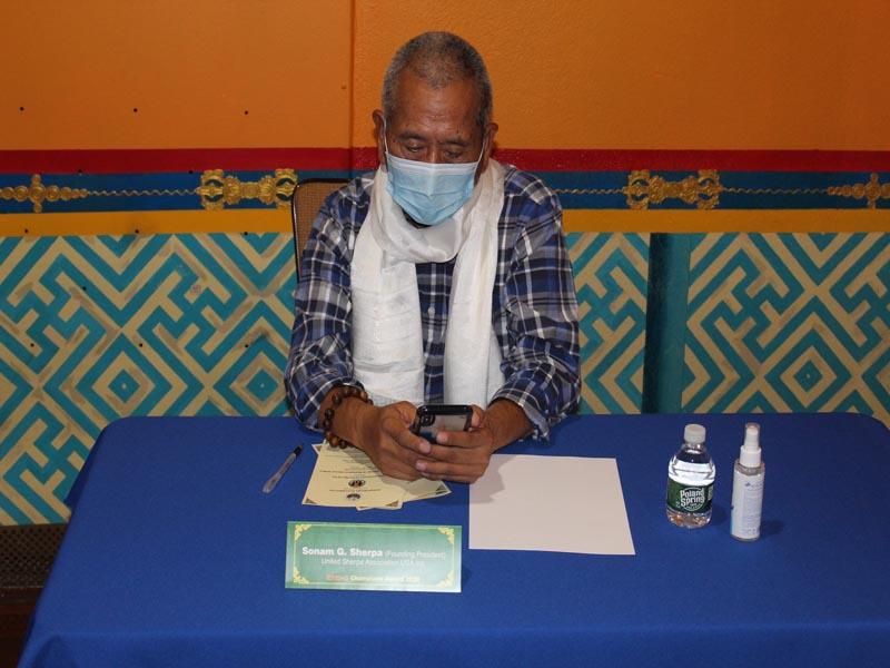 Sonam G Sherpa Founding President United Sherpa Association Inc