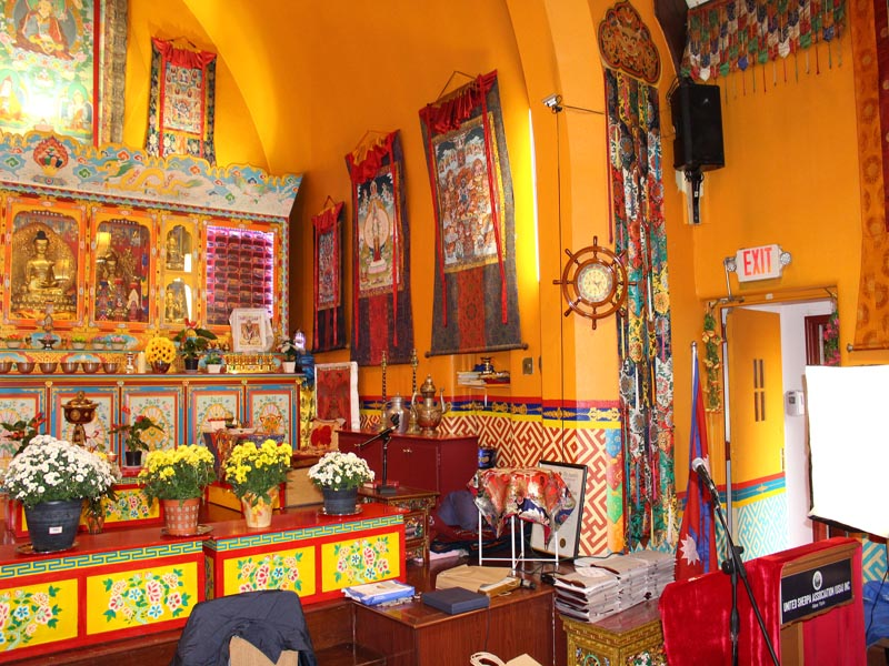 United Sherpa Association Inc Buddist Temple,where event took place