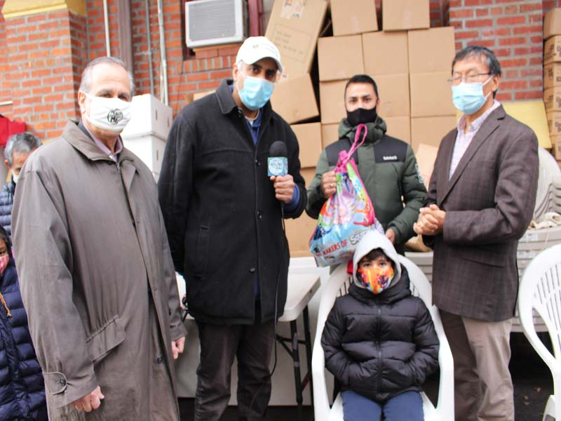 Dr.Abbey With Rev Bruce & Urgen Sherpa with Nepal Needy Family