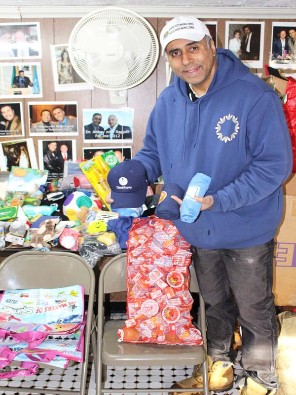 Hats & Tee Shirts given to needy families